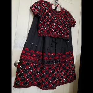 2 piece Indian dress lehenga chaniya choli garba